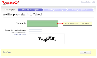 how to get your lost yahoo email password