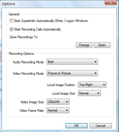 Supertintin Windows Live / MSN WLM Messenger Webcam Recorder