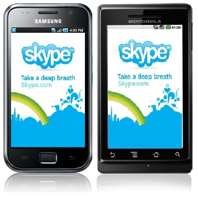 Skype for Samsung Galaxy S GT I9000 n Motorola MileStone XT720
