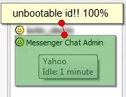 Unbootable Yahoo ID