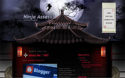 Ninja Assassin Blogger Template