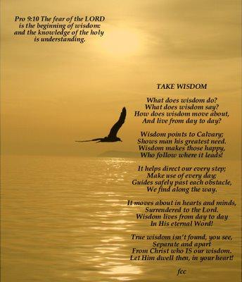 The Wisdom of God Jesus Christ