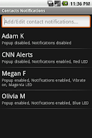 Screenshot - Contact Notification Customization