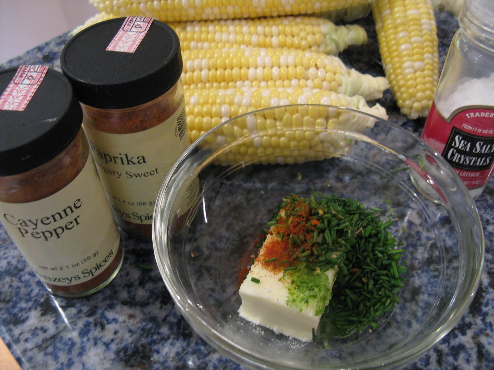 Corn on the Cob with Lime Chive Butter~ - That Skinny Chick Can Bake