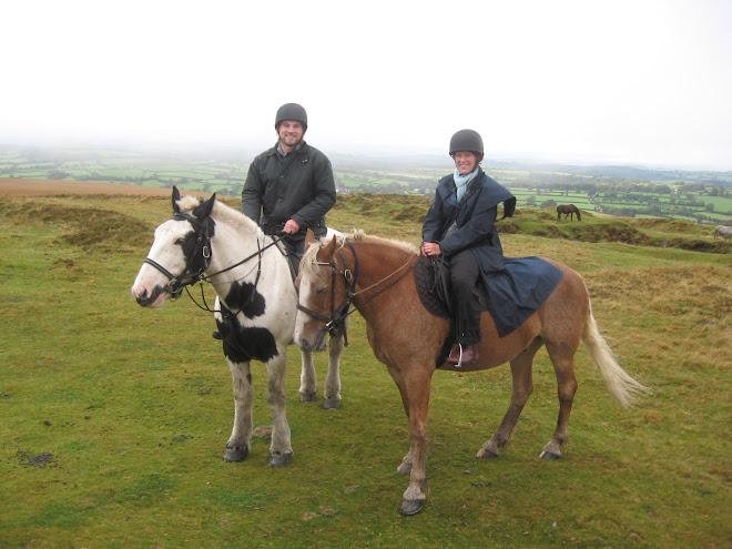 Mel and Greg on horseback