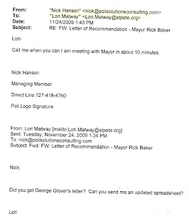 e mails confirm city hall administrator is coordinating