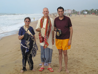 On the beach in Puri