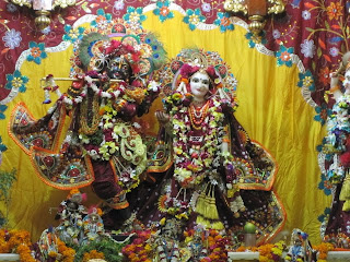 Sri Sri Radha Syamasundara at the Krishna Balarama temple