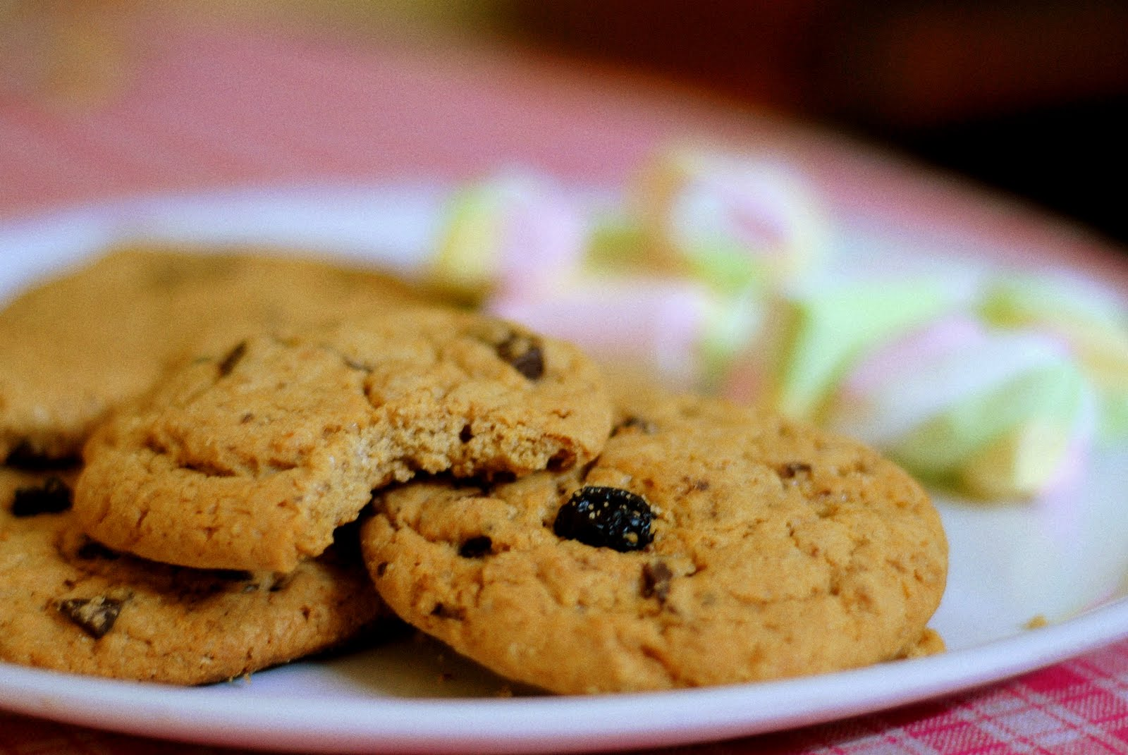 Purple Cinnamon and Salt: Chocolate chunk blueberry cookies