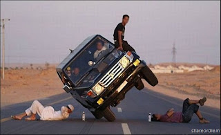 Photo of Crazy Arab Guy doing Car Stunts