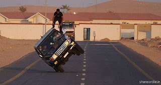 Image of Crazy Car Stunts by a Arab Guy