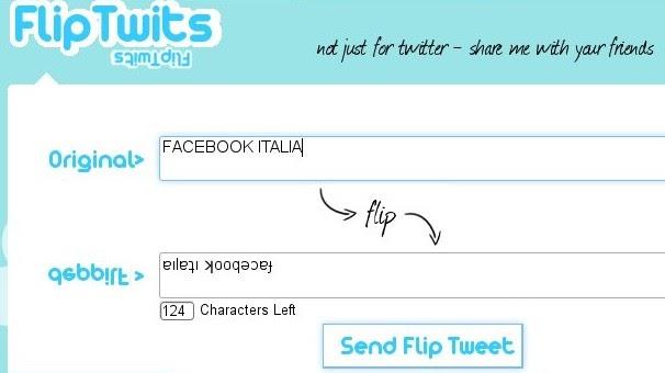 Twitter italia scrivere su twitter allo specchio - Scrivere a specchio ...
