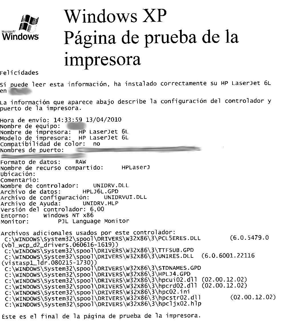 Ayudas a la programación: PROBLEMA CON LASERJET 6L