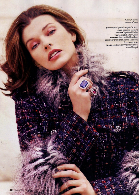 Milla Jovovich Photoshoot by Marcin Tyszka for ELLE Russia November 2010