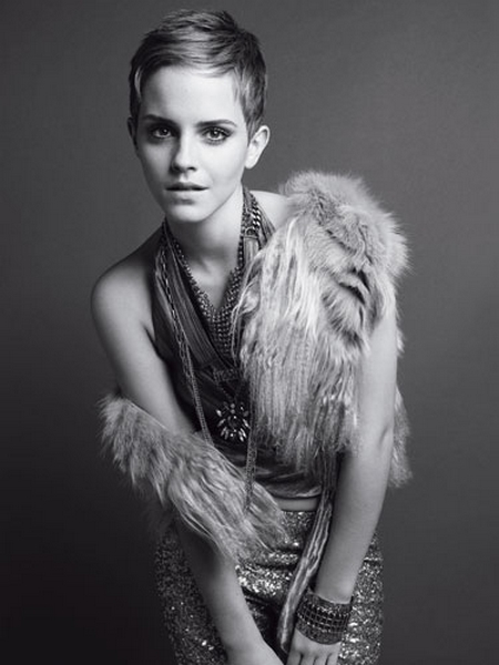 marie claire US December 2010 - Emma Watson by TESH