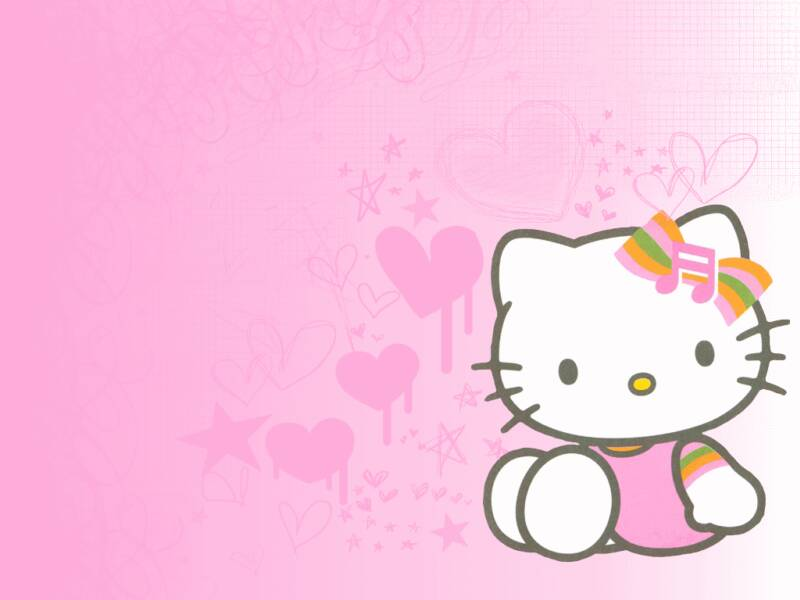 hello kitty birthday background