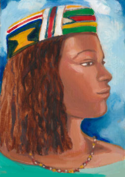 Woman in Kente Hat