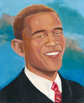 Beaming Barack