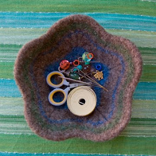 Felted Flower Bowl