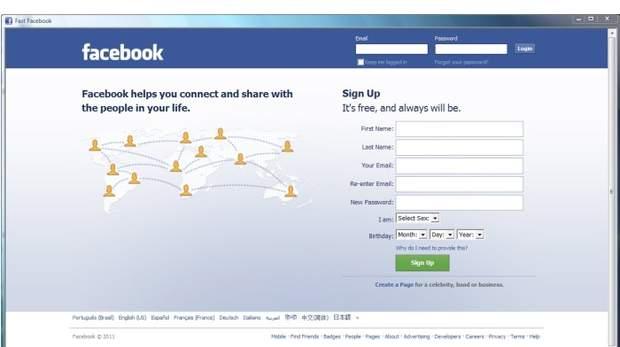 fast facebook login