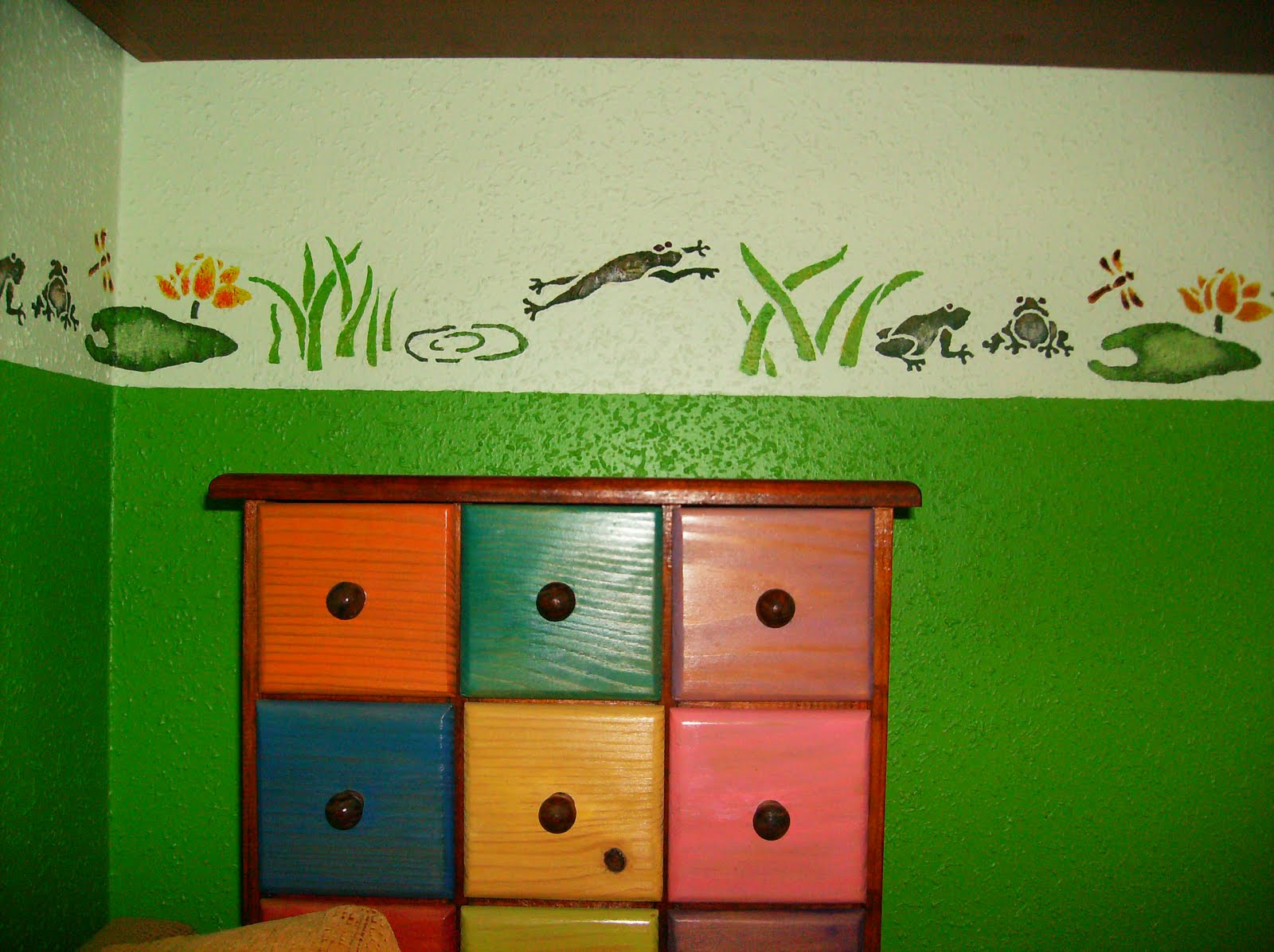 M s que hermanas pintar cenefas en la pared - Plantillas para pared ...