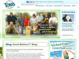 Tom's of Maine: Eco-Friendly Company &amp; Products