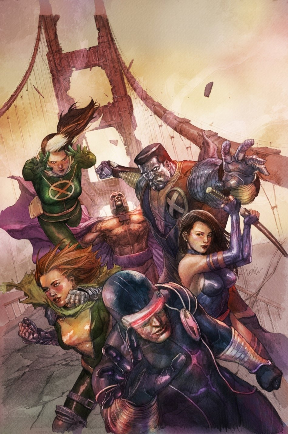 Leinil Francis Yu's artwork in The X-Men