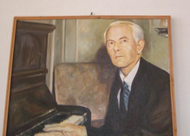 Pictura cu tabloul lui Bela Bartok