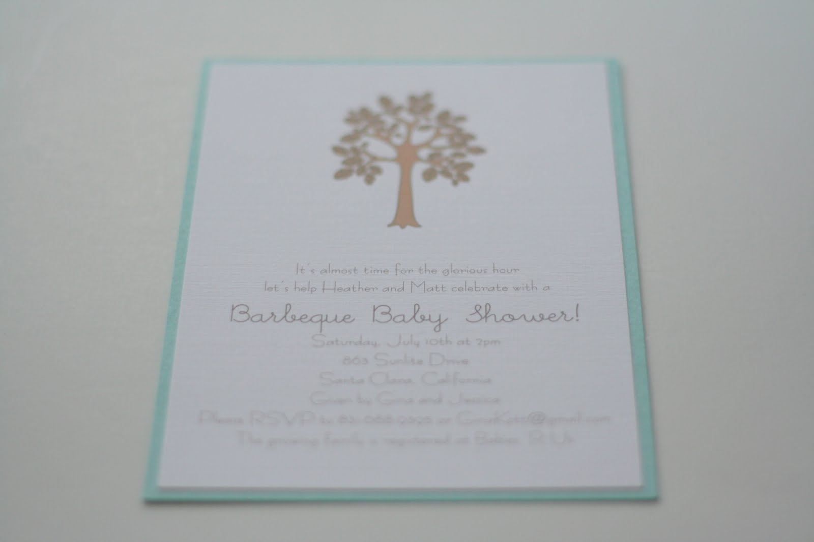 Paper and Thread: A Growing Family\'s Baby Shower: San Diego Invitations