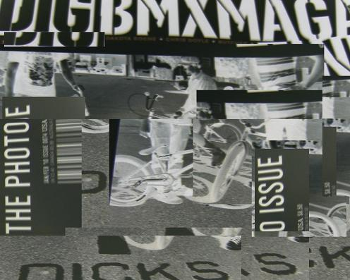an 'artistic' rearrangement of the dig bmx photo issue cover