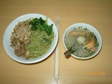 Mie Sawi Ayam kampung+jamur