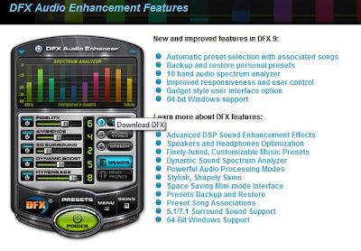 DFX menu