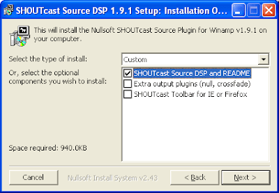 shoutcast setting 3