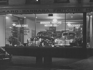 Old Car Dealerships Black and