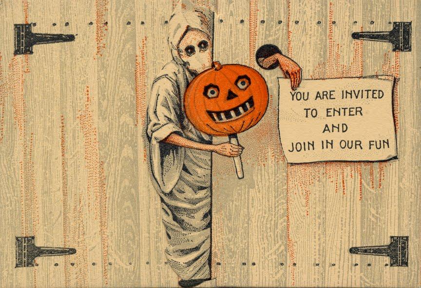 SPOOKSHOWSCOM BLOG Vintage Halloween Invitation