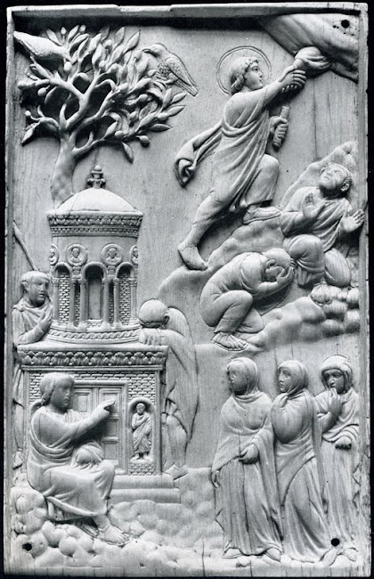 4th century Christian ivory work, Munich, Ascension of Christ.