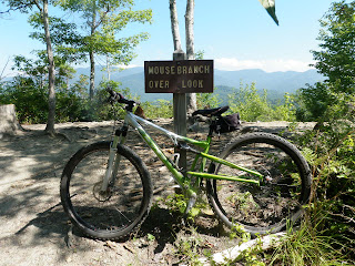 Mountain bike in Tsali at the Mouse Branch overlook