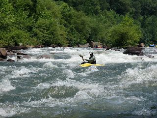 kayaker on the Ocoee river