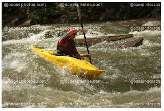 Kevin at double trouble rapid, Ocoee River Tennessee