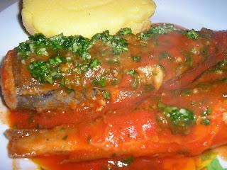 Articole culinare : Merluzzo con pomodoro ( Cod cu sos de rosii)