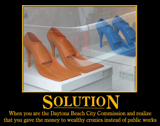 Daytona Beach City Commission solution to flood problems Motivational Poster