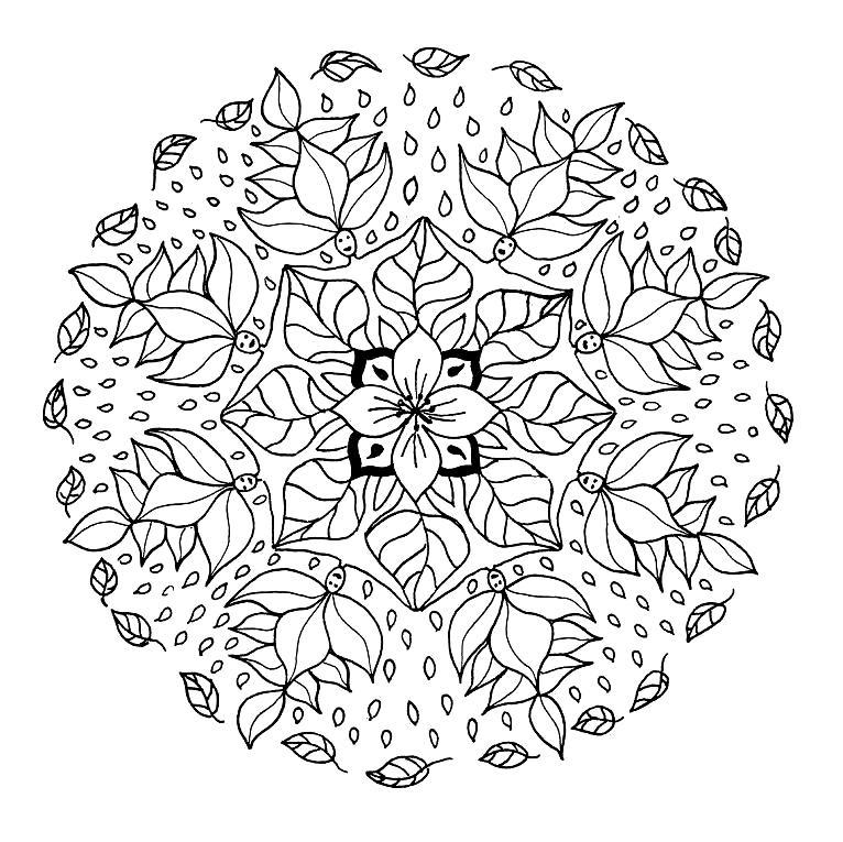 Mandalas Para Pintar: Mandala para colorear hadas