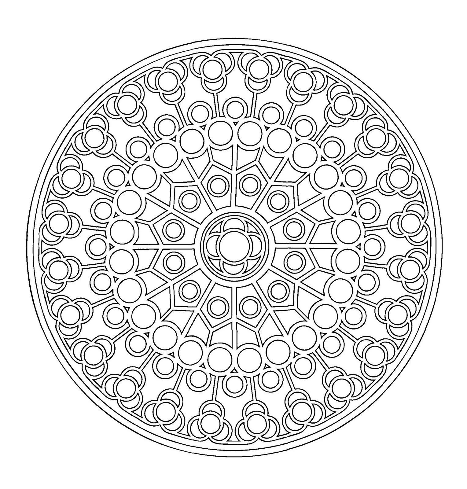 Mandalas Para Pintar Mandala Catalan II