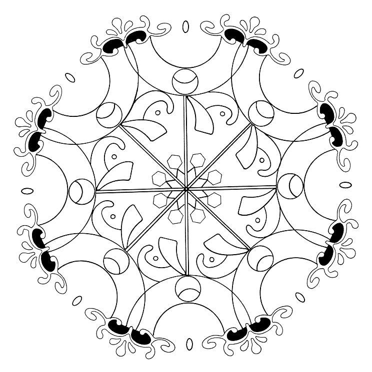Mandalas Para Pintar: Mandala original para colorear