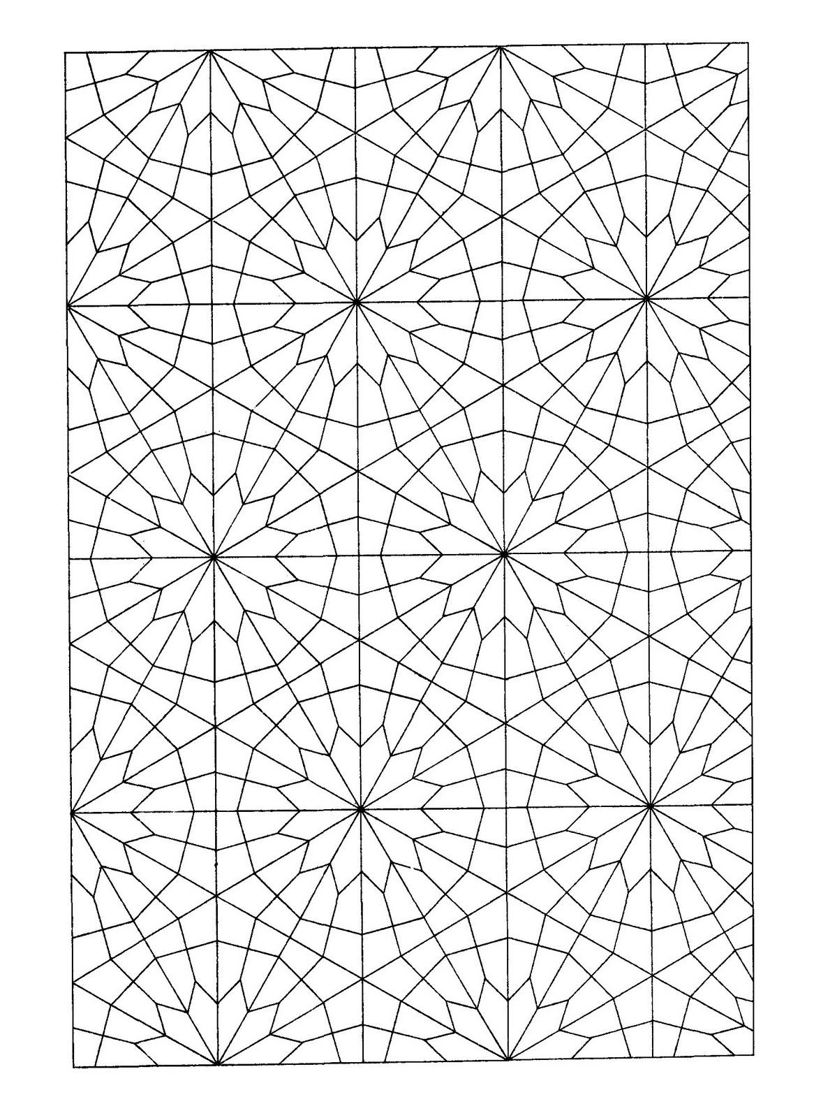 Mandalas Para Pintar: Mandala geométrico II