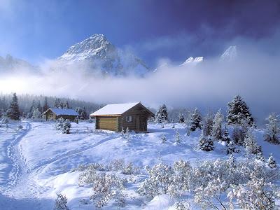 cabana deiarna peisaj superb de iarna