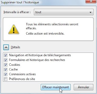 capture d'écran Firefox