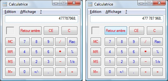 capture d'écran Windows - Calculatrice