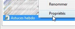 capture d'écran Internet Explorer