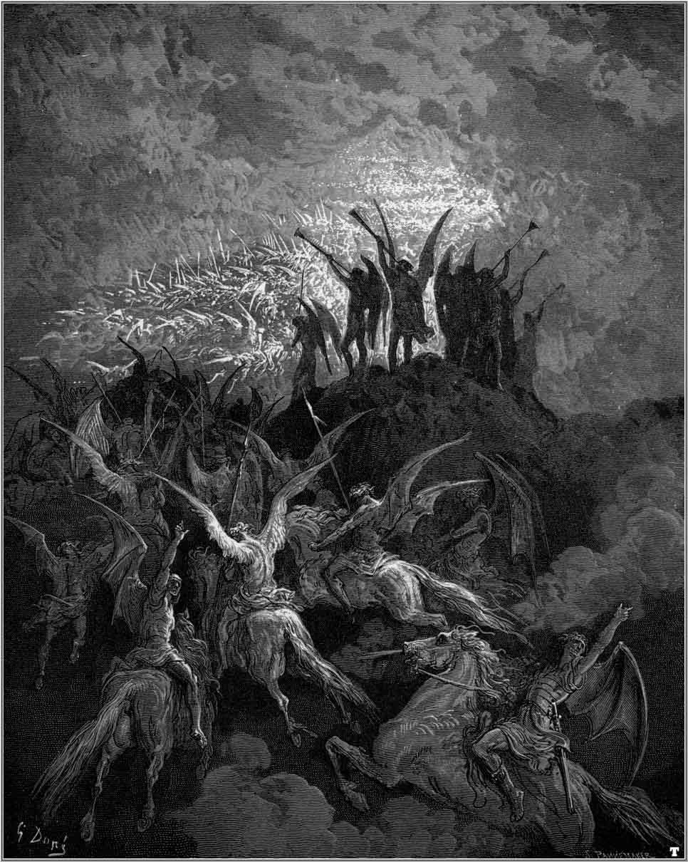 the banishment of satan from hell in the novel paradise lost by john milton It's the same story you find in the first pages of genesis, expanded by milton into  a very long,  the story opens in hell, where satan and his followers are  recovering from defeat in a  satan is apprehended by them and banished from  eden.